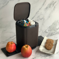 Mini Car Dustbin with lid - brown - waste storage box - Nestasia Home Decor