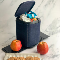 MARSHAL Mini Car Dustbin- Denim - Nestasia Home Decor