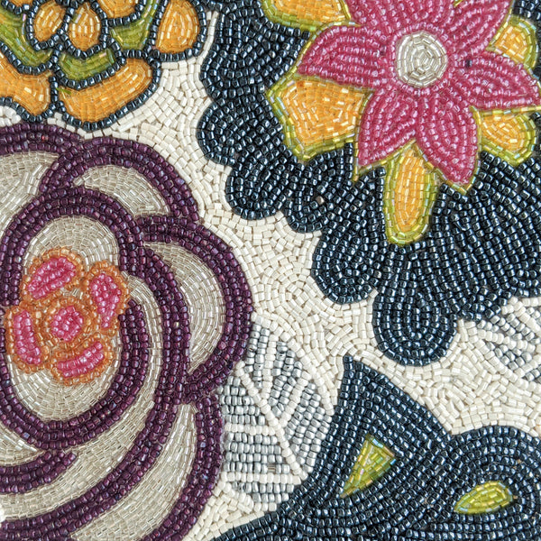 floral beads closeup placemat