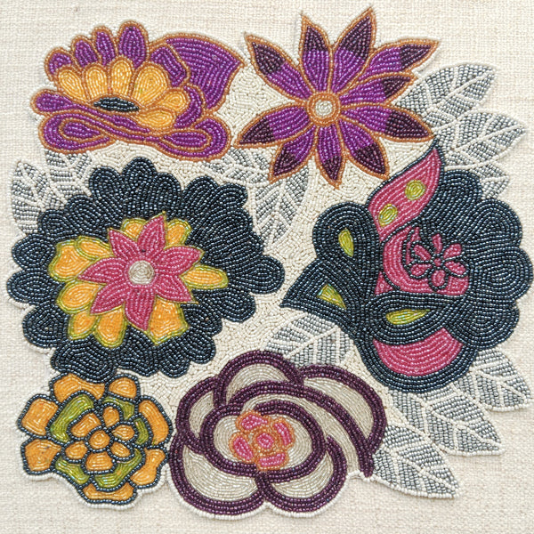 BEADS Floral Table Mat