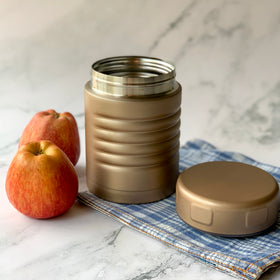 MAGNIFIQUE Steel Lunch Box - Matte Gold