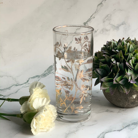 CARA Drinking butterfly glass - Gold