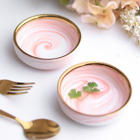 Pink Marble Small Plate