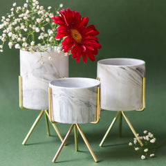 Marble Planter With Stand