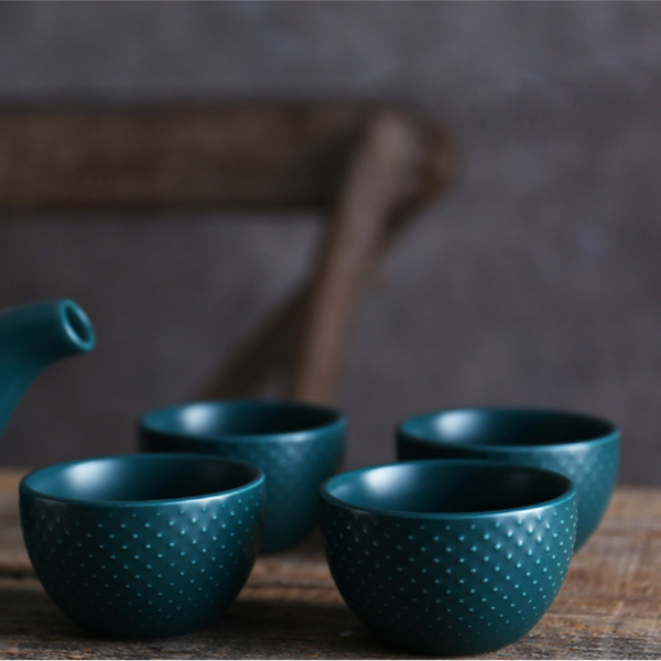 Midnight Green Tea set