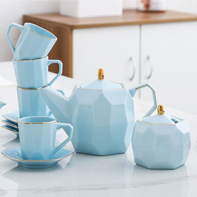 Modern Tea Set Blue