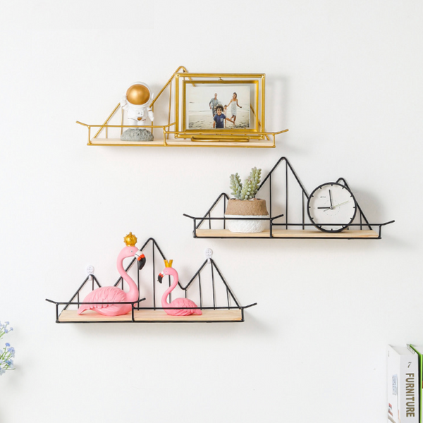 Mountain Shaped Shelf Black