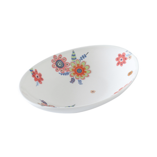 Oval Floral Bowl