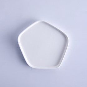 Pentagon White Snack Plate