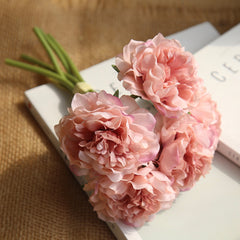 Artificial Flower Bunch Peony Pink