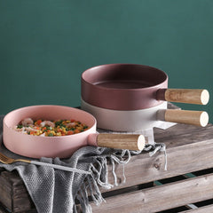 Pink Bowl With Handle