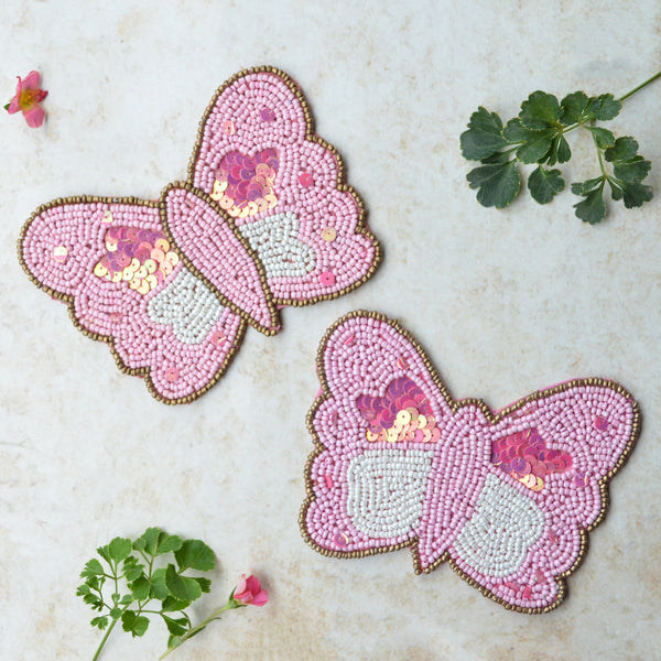 Pink Butterfly coasters