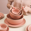 Pink Ceramic Stone Soup Bowl