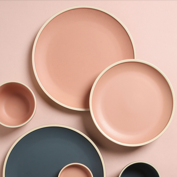 Pink Ceramic Stone Side Plate