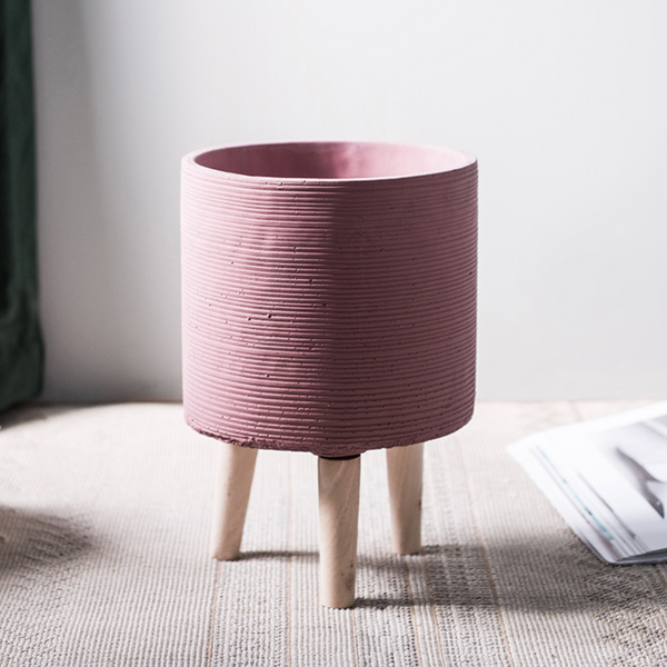Pink Planter With Stand