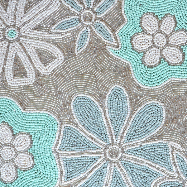 BEADS Blossom Runner - Blue, White and Silver