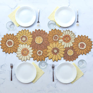 BEADS Sunflower Runner - Yellow, White and Gold