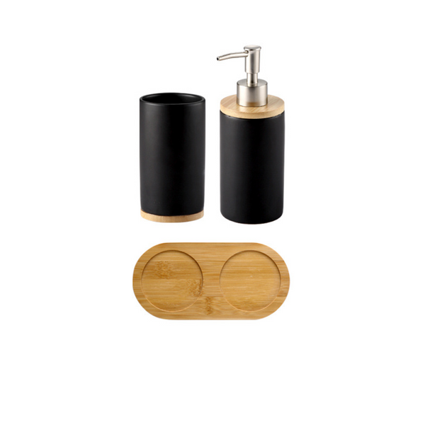Black Bath Accessory Set