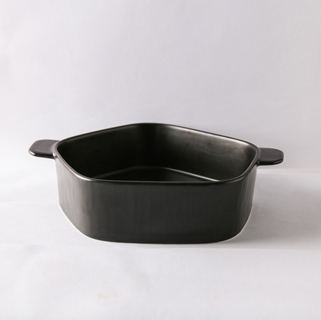 GEOMTERIC pentagon serving bowl - soul black