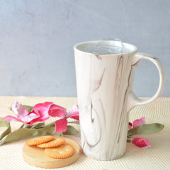CHICERAMIC Marble Mug with Lid