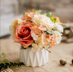 Vase With Flowers Orange