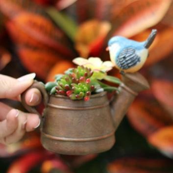 Watering Can Planter Brown