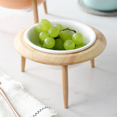 White Bowl with Stand