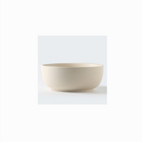 White Ceramic Stone Serving Bowl Large