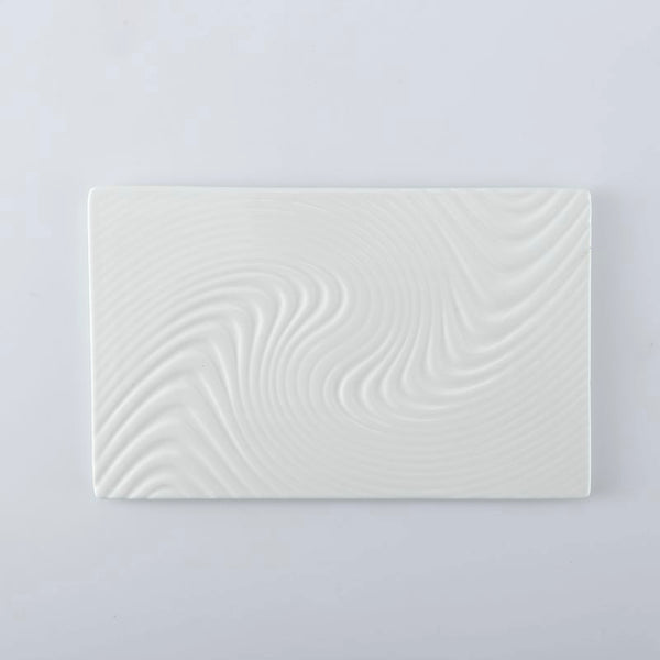 White Serving Plate Texture Small