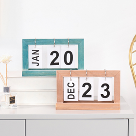 Blue Table Calendar