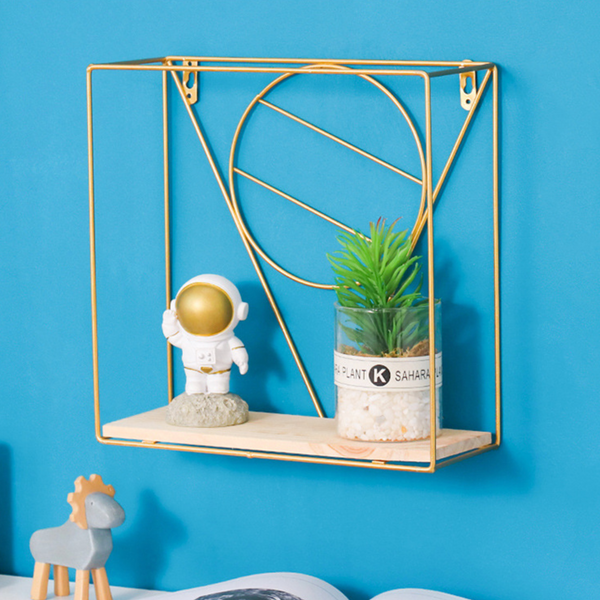 Wooden and Metal Shelf