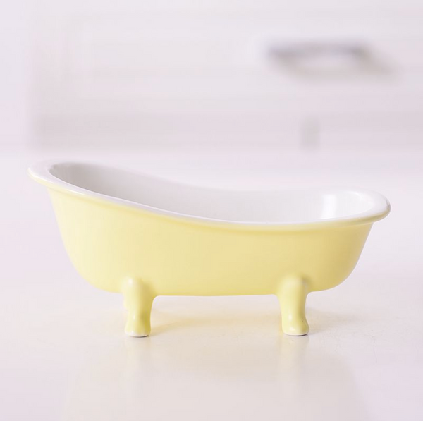 Yellow Tub Ceramic Snack Bowl
