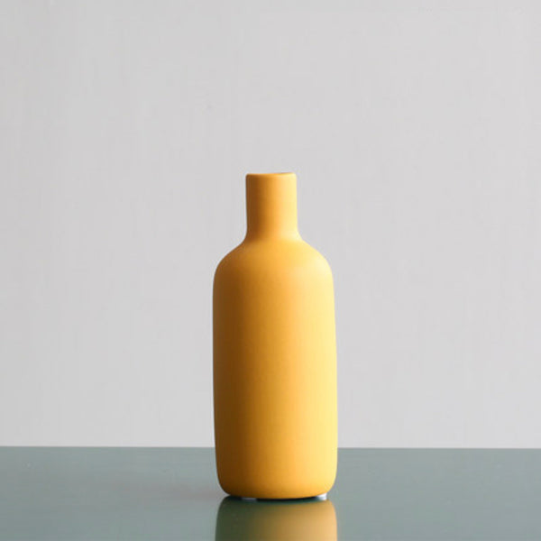 Short Vase Yellow