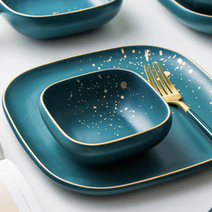 CARA square bowl - midnight green