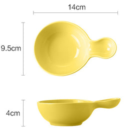 MERRY round yellow dish