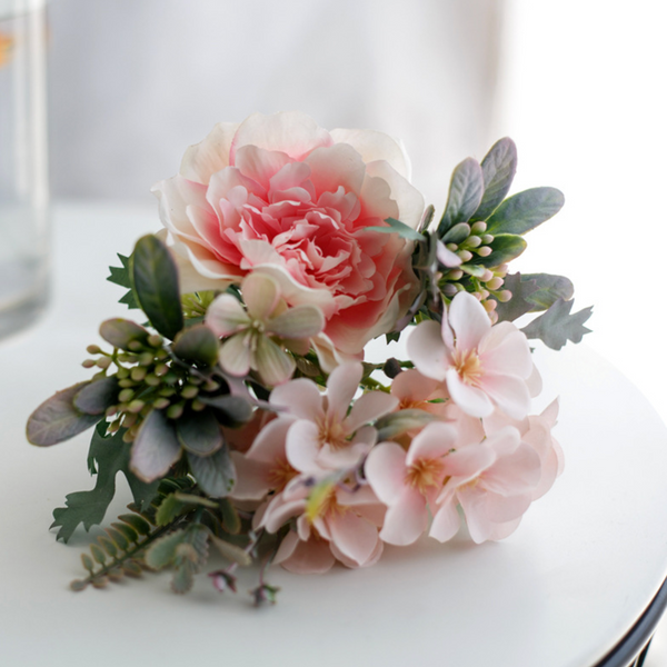 Artificial Flower Bouquet Pink