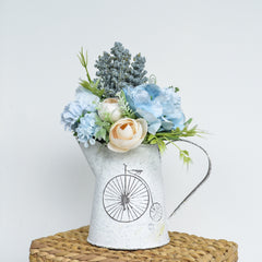 Sky Blue Flowers in Jug