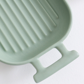 Long Grill Plate Green