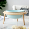 Blue Bowl with Stand
