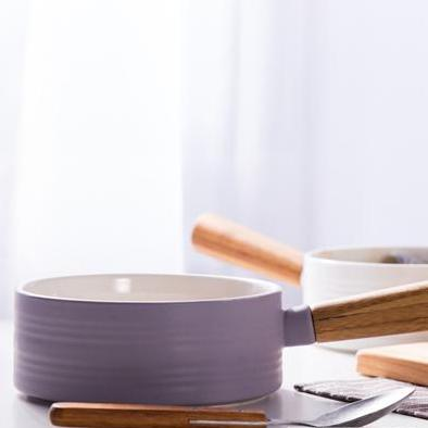 MAGNIFIQUE bowl with bamboo handle - lavender - Nestasia Home Decor