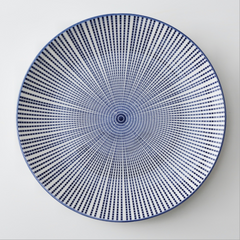 Snack Plate Navy Blue