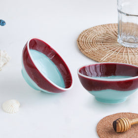 Red And Blue Bowl - Set of 2