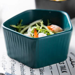 GEOMTERIC pentagon salad bowl - Midnight green - Nestasia Home Decor