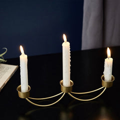 Metal Candle Stand Gold