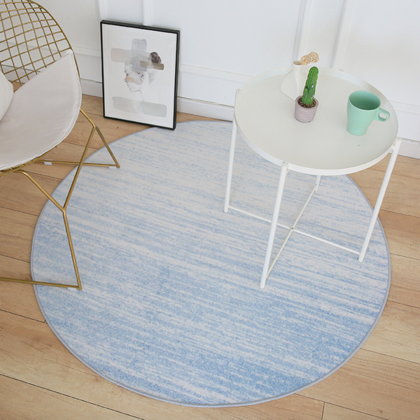 GRADIENT Round Rug - Blue (S) - Nestasia Home Decor