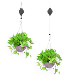 FLORA Hanging Planter Adjustable Hook - Black - Nestasia Home Decor