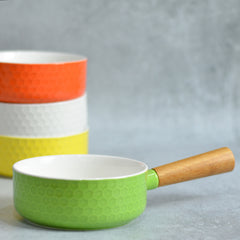 Light Green Bowl with Handle