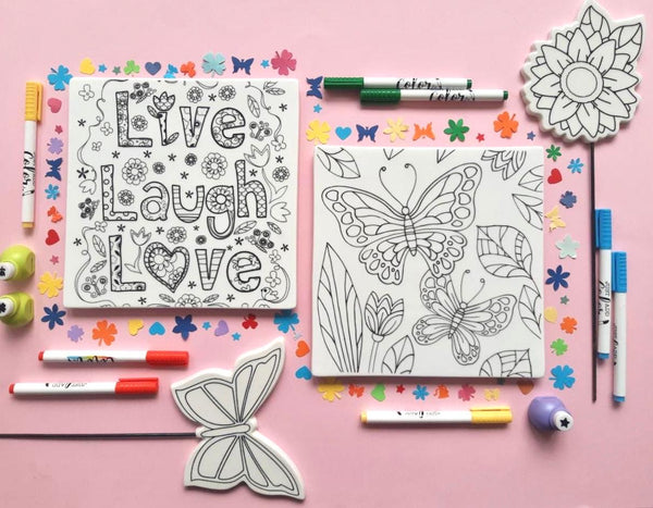 MERRY DIY Butterfly Tile  with Colour Pens - Nestasia Home Decor