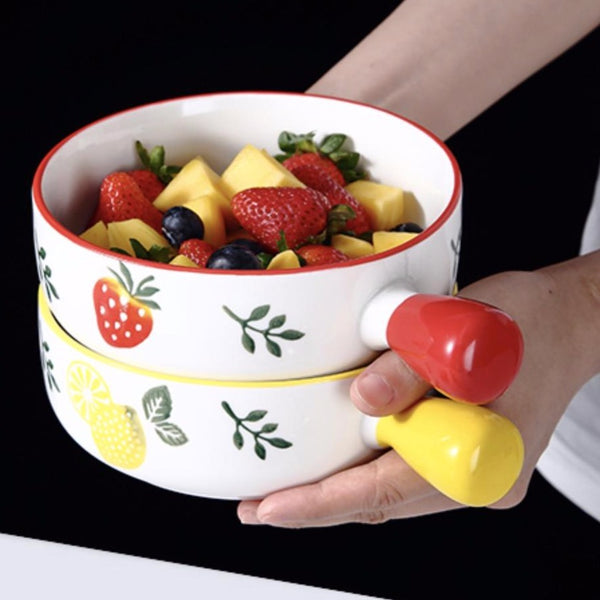 Strawberry Bowl With Handle