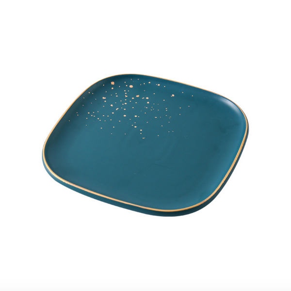 CARA square salad plate - midnight green - Nestasia Home Decor